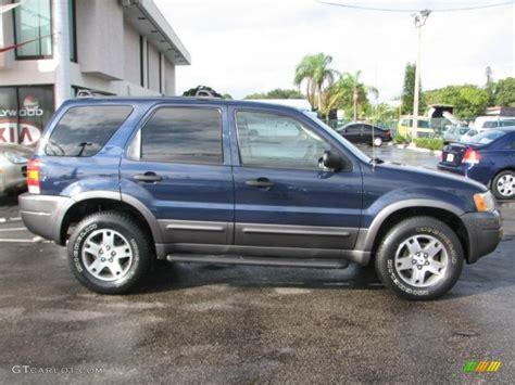 2003 Ford Escape Xlt by True Blue Metallic 2003 Ford Escape Xlt V6 4wd Exterior