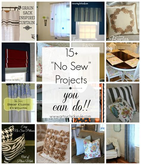no sew craft projects diy no sew projects pillows curtains shades and more