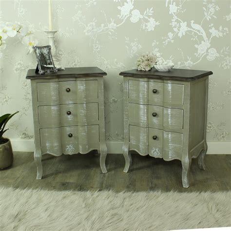 grey shabby chic bedroom furniture furniture bundle pair grey bedside chests shabby vintage