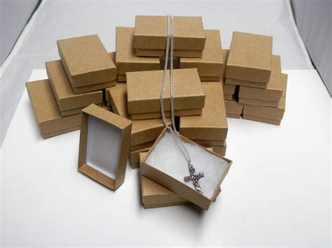 how to make jewelry gift boxes kraft jewelry gift boxes cotton filled presentation display