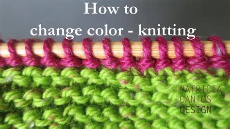 how to knit colors how to change color knitting