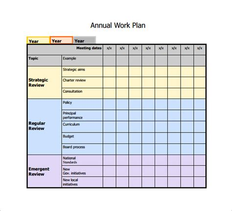 planning a for work work plan template 12 free word pdf documents