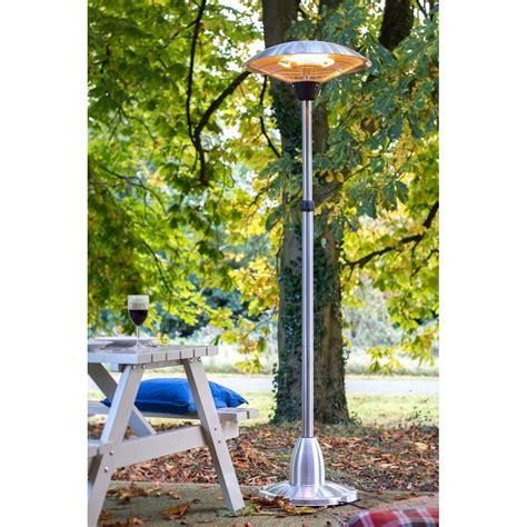 la hacienda electric patio heater la hacienda standing halogen electric patio heater la