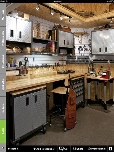 garage woodworking shop ideas garage idea workbench setup option purchased work