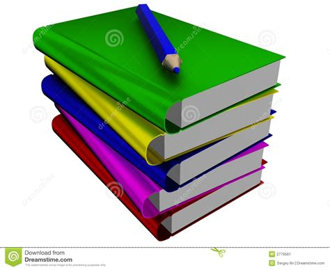 pictures of books and pencils pile of books and pencil stock image image 2779561