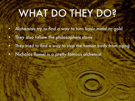 what does do what is an alchemist by kevin kerrigan