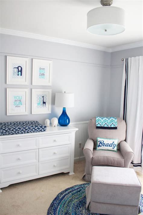 baby nursery decor boy blue nursery project nursery