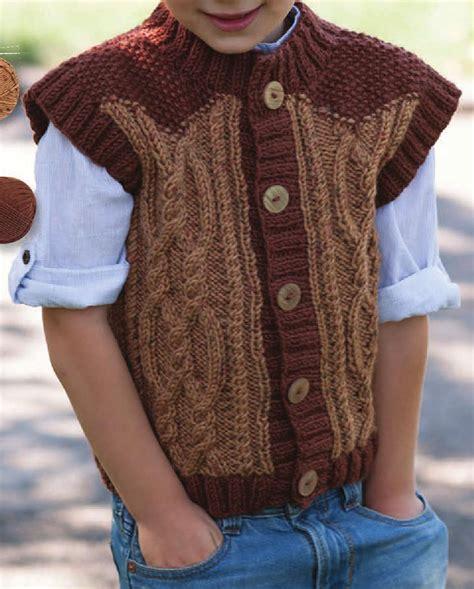 knit for boys boys vest knitting pattern