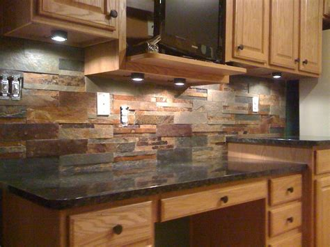 backsplash for uba tuba granite countertops this slate tile backsplash is shown with uba tuba