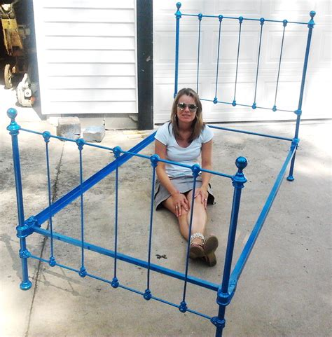 spray painting metal bed frame car paint the antique bed reveal and drill