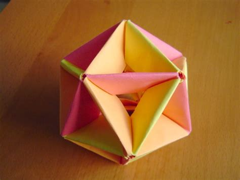 origami icosahedron modular origami balls and polyhedra folded by michał