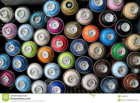 spray paint dosen spray dosen lizenzfreie stockfotos bild 10386518