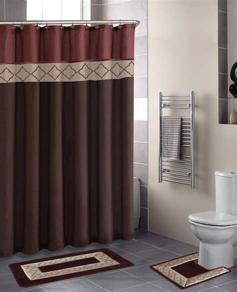bathroom sets shower curtain rugs home dynamix designer bath shower curtain and bath rug set