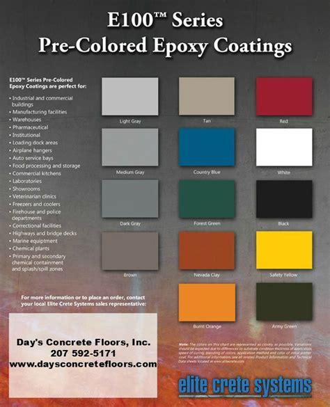 paint colors for concrete epoxy color chart epoxy floor paint color chart