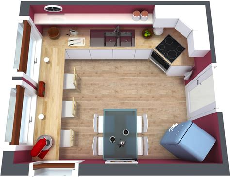 plan your kitchen with roomsketcher kitchen floor plan roomsketcher