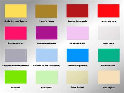 paint colors emotions the horror colour mood chart peacockpete s adventures in