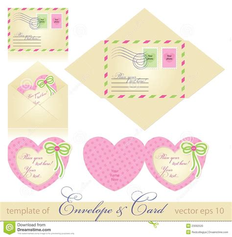 how to make greeting card envelope envelope and greeting card stock photo image 23092520