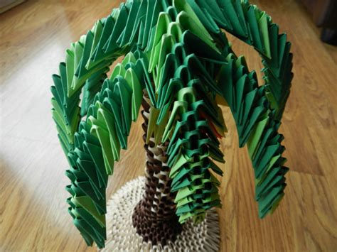 origami 3d tree items similar to 3d origami palm tree model on etsy