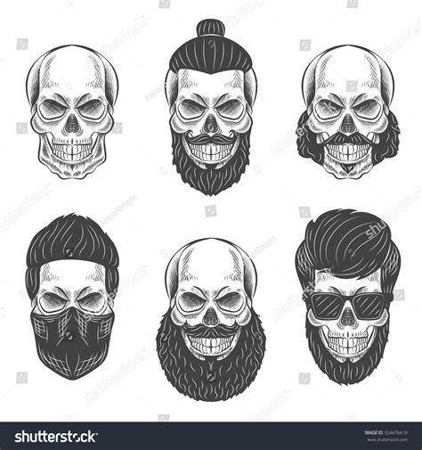 skull beard pin by danielle on tshirts