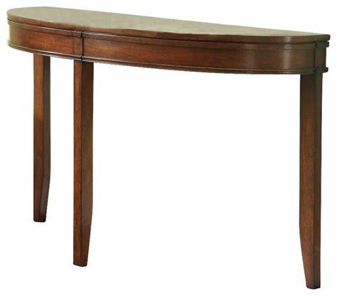 half moon sofa tables homelegance parrish half moon sofa table in cherry