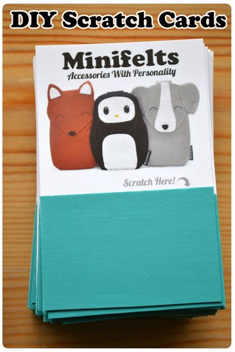 make your own scratch cards minifelts diy how to make your own scratch cards