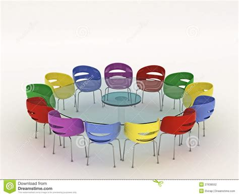around the table chairs around the table stock photography image 27638552