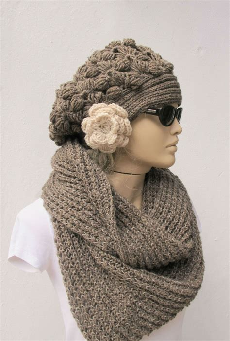 knitted scarf hat crochet hat scarf flickr photo