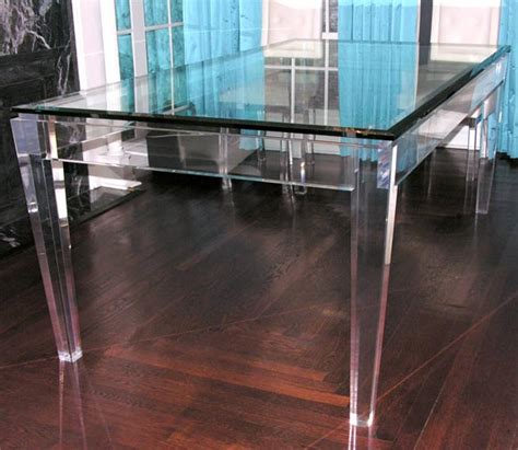 acrylic dining room table acrylic and glass dining table at 1stdibs