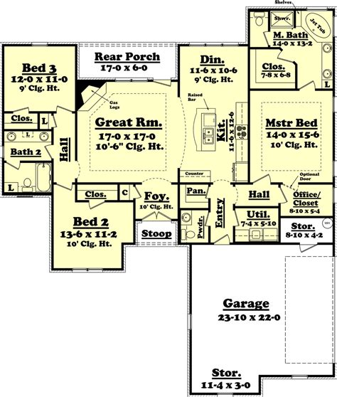 1800 sf house plans ranch style house plan 3 beds 2 5 baths 1800 sq ft plan