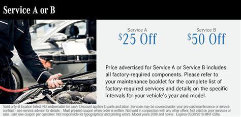 Mercedes Change Coupon by Mercedes Change Coupons Auto Service Coupons
