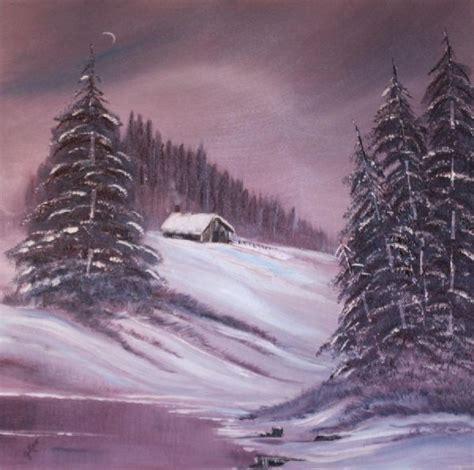 bob ross paintings winter bob ross winter moon paintings bob ross winter moon