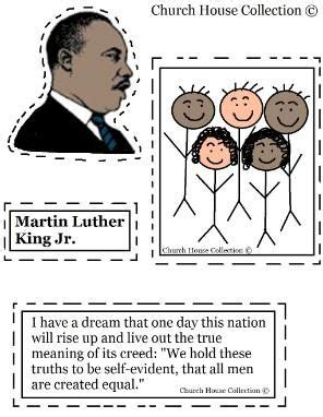 martin luther king jr crafts for martin luther king jr crafts cutout activity church