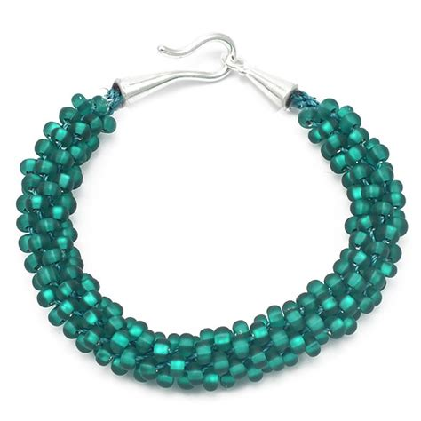 bead kits kumihimo bracelet kit teal seed the bead shop