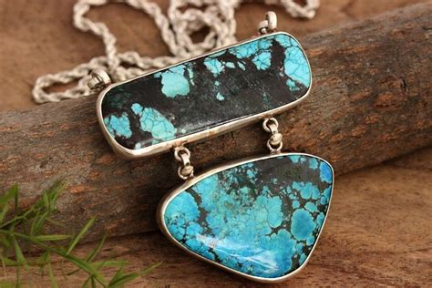 large for jewelry buy large turquoise pendant necklace artisan silver