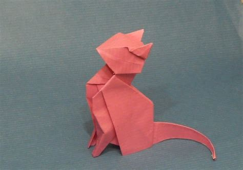 origami sitting origami cat by orestigami deviantart on deviantart