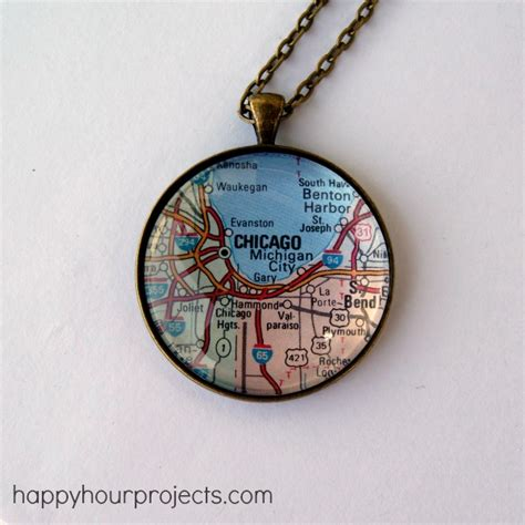 how to make glass jewelry glass map necklace happy hour projects