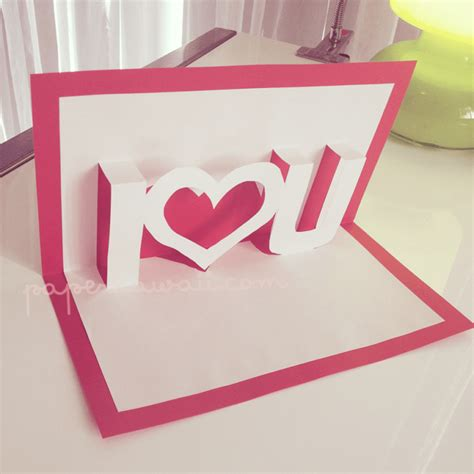 how to make a valentines pop up card pop up card tutorial valentines day paper kawaii