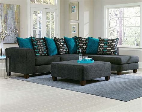 big sectional sofa black two toned blue pillows watson big 2 pc