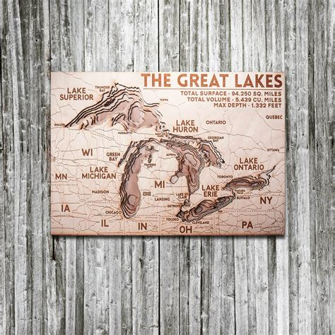 great lakes woodworking great lakes 3d wood map on tahoe time