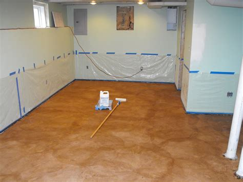painting concrete basement floor steps for easy painting basement floors homesfeed