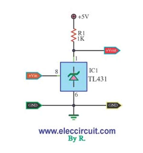 Bright Led Lights by Voltage Detector By Ic Tl431 Electronic Projects Circuits