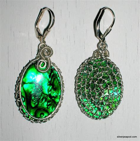 viking knit earrings viking knit abalone earrings by rockandwirestudio on