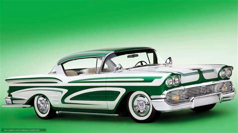 Classic Car Wallpaper 1600 X 900 Desktop by Wallpaper Chevrolet Impala Green Car Classic