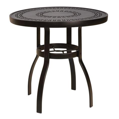 woodard deluxe 30 inch trellis top dining table