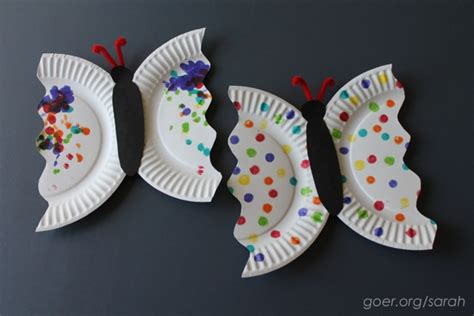 butterfly paper plate craft s day craft goer quilts
