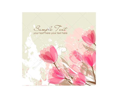 greeting cards vector greeting cards with flowers floral card templates