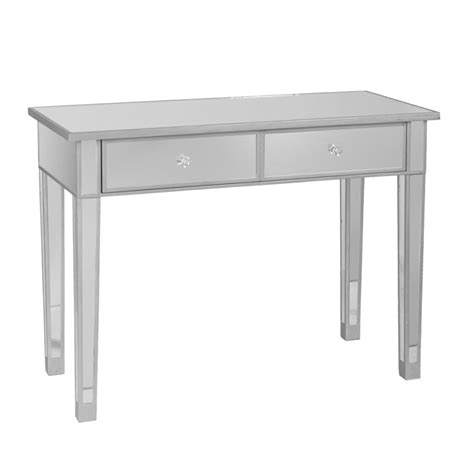 mirrored sofa tables sei mirage mirrored 2 drawer console table