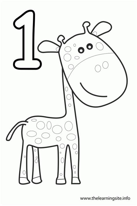 number one coloring pages kids coloring
