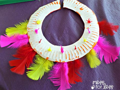 aboriginal crafts for craft ceremonial headdress and necklace inspired by