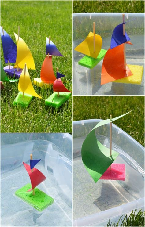 boat crafts for sponge sailboat craft for easy peasy and